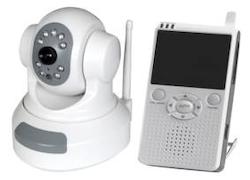 Trådlös övervakningskamera motor med LCD-mott.