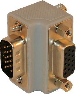Vinkel VGA kontakt nedåt / vänster