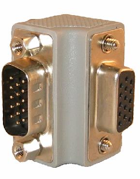 Digitaltvexperten Vinkel VGA kontakt uppåt / höger