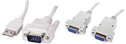Nollmodemkabel seriell / USB multibox