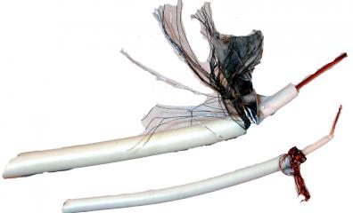Digitaltvexperten Antennkabel super tunn 3,7mm koaxial