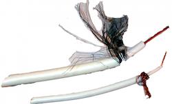 Antennkabel super tunn 3,7mm koaxial