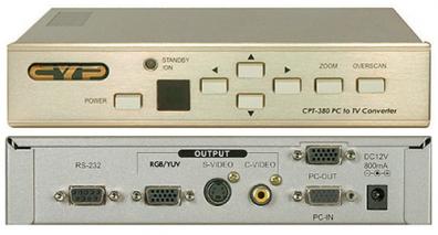 Cypress T. CPT-380RGB VGA till SCART / YPbPr / S-VHS / CV