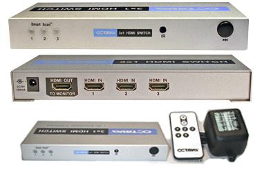 HDS3 HDMI Switch / växel 3:1 v1.3
