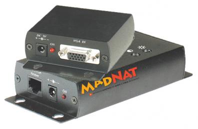 MADNAT ATP-VV37 VGA över Cat5 sändare och mottagare