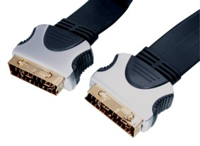 High grade Scart Flat Pro Cable 10m