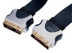 Scart Flat Pro Cable 10m