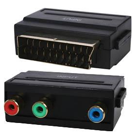 Komponent-scart adapter std