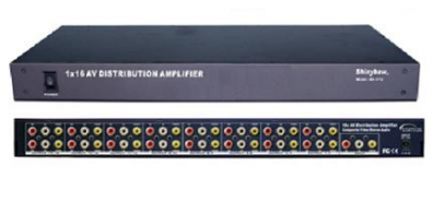 Shinybow SB-3712 Komposit splitter 1 in 16 ut