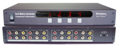 Shinybow SB-5544 AV Matrix Switch 4 in 4 ut