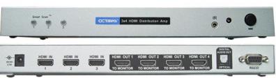 Octava HDDA34 V1.3 HDMI Switch 3 in 4 ut toslink ut
