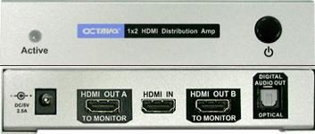 HDDA12 HDMI Splitter 1 till 2 toslink ut V1.3