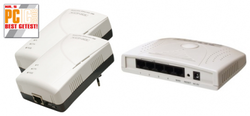 Homeplug 200 Mbps 200 meter + router