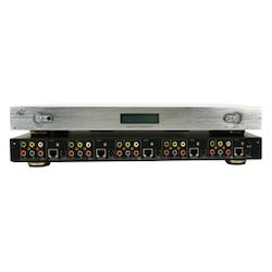 Komponent switch i silver 4:1 + opt digitalt ljud