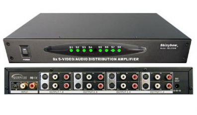 Shinybow SB-3709M A/V S-VHS splitter 1 in 8 ut
