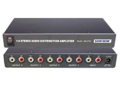 Shinybow SB-3705 Audio splitter 1 in 4 ut