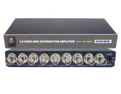 Shinybow SB-3706 Komposit splitter 1 in 8 ut BNC