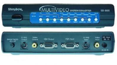 Shinybow SB-3690 NTSC/PAL Converter med VGA
