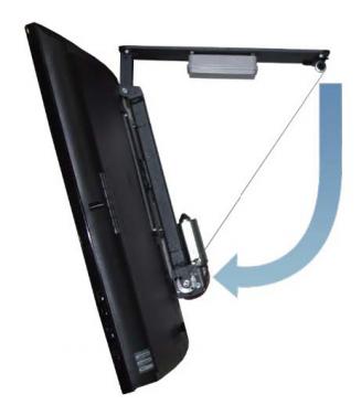 HDconnect Motorstyrt takfäste Plasma / LCD 75kg