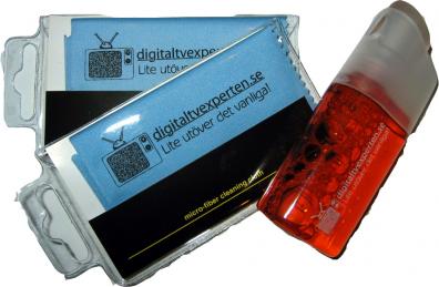 Digitaltvexperten Putsspray och två putsdukar