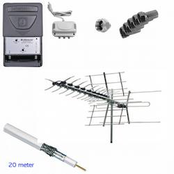 Antennpaket problemlösaren kombi VHF / UHF
