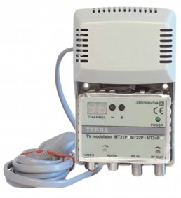 / Terra MT22P RF-Modulator VHF Mono