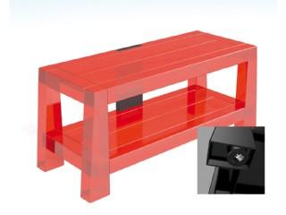 Whoopee Röd Tv-bänk med hjul och fäste