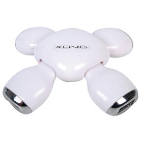 König FLEXIBEL 4-PORTARS USB 2.0-HUB