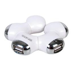 ROTERBAR 4-PORTARS USB 2.0-HUB