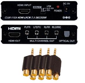 Analogt 7.1 / 5.1 ljud från HDMI med adapter