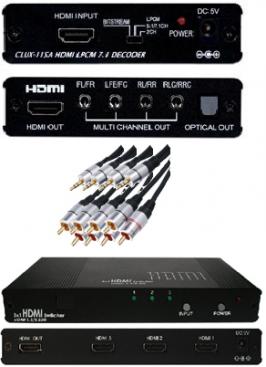 CYP/// Analogt 7.1 / 5.1 ljud fr. HDMI + switch