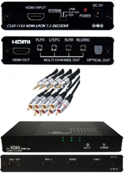 Analogt 7.1 / 5.1 ljud fr. HDMI + switch