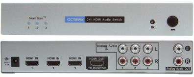 Octava HDA31 HDMI Switch / växel 3:1 v1.3 ljud