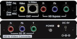Komponent till video/svhs konverter