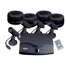 König övervakningssystem 4 kameror quadprocessor
