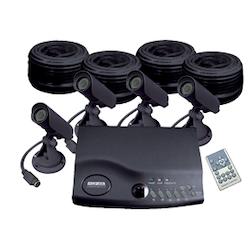 övervakningssystem 4 kameror quadprocessor