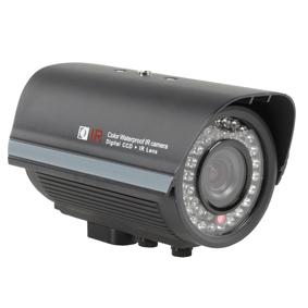 König Färgkamera CCD 420 linjer dag / natt zoom svart