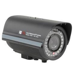 Färgkamera CCD 420 linjer dag / natt zoom svart