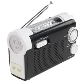 HQ Nödlampa / mobilladdare / radio med vev