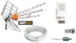 DAT-HD 45 16db Förstärkningspaket 220V 20m LTE