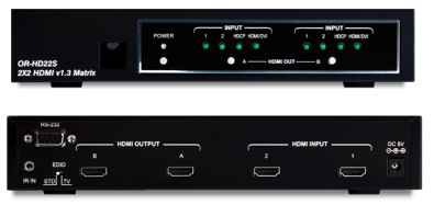 OR-HD22S HDMI 1.3 Matrix switch / växel