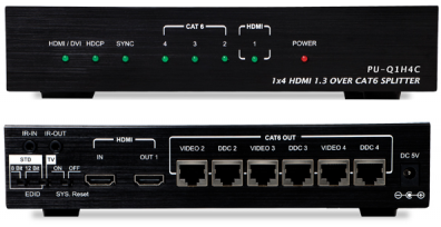CYP/// HDMI till Cat 5/6 splitter 1:4