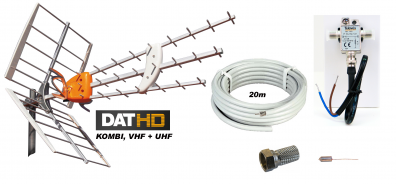 Televés DAT-HD Mix m. LTE 16db Förstärk.paket 12V 20m