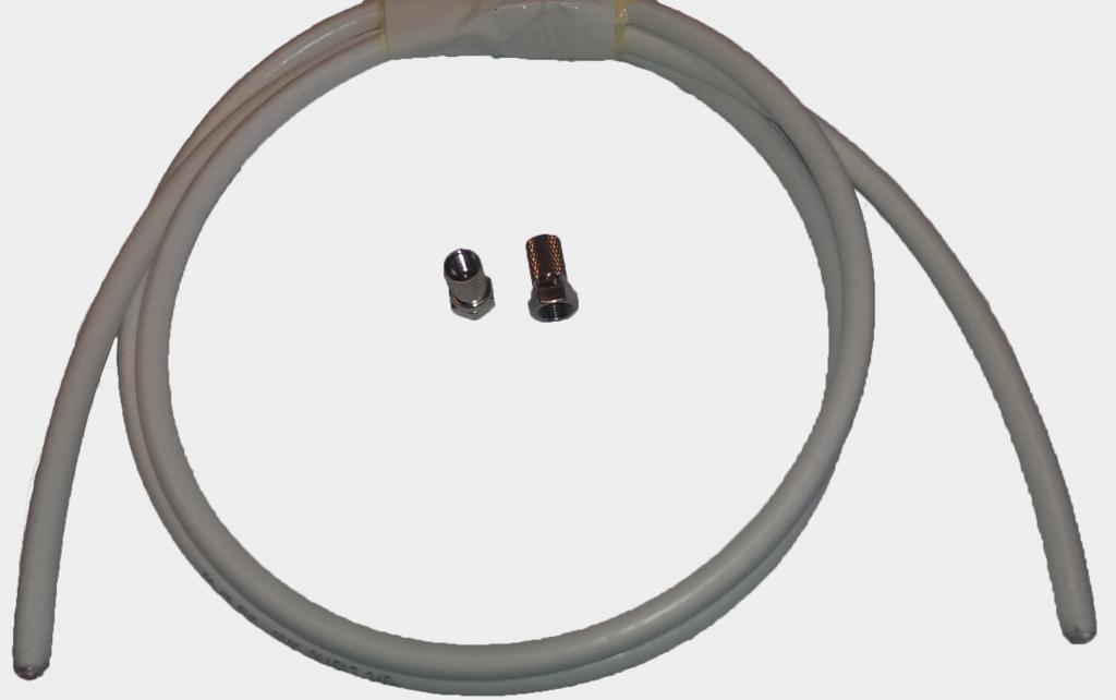 Digitaltvexperten Antennkabel med F-kontakt Proffs 1m