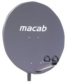 Macab Parabol 74x84cm sidmatning