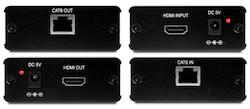 PU-107 HDMI 1.3 över singel CAT6 Komplett