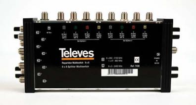 Televés Multiswitch 9 ingångar 8 utgångar