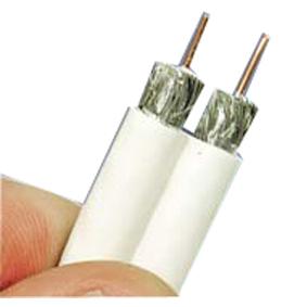 Antennkabel Siames / Dubbel Vit Trippelskärm RG6T