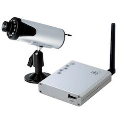 Trådlös laddningsbar kamera med USB-mottagare