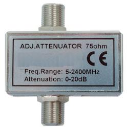 Dämpsats 0-20 db f-kontakt + vanlig